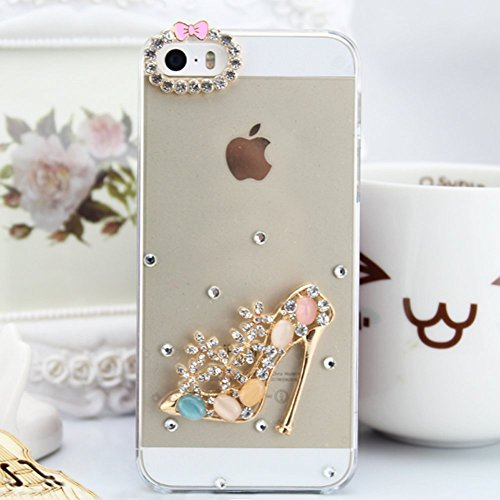 iPhone 6S Hülle,iPhone 6 Hülle,iPhone 6S Etui,EMAXELERS Transparent Hardcase for iPhone 6S Case,Hart Plastik Schutzhülle Hard Kunstoff Clear Cover Silber Schiefen Turm Schnee Sparkles Diamant Painted  Diamond PC Series 2