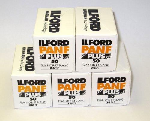 Ilford Pan F 35 mm, 36 Aufnahmen) 5 Pack