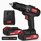 Cordless Drill Driver, Meterk 18V Cordless Electric Drill Driver with 2Pcs Li-Ion Batteries,2