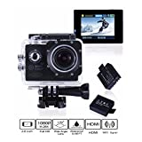 Action Kamera,CAMTOA WIFI 12MP Full HD 1080P 2,0 Zoll Sport Action Camera Cam Wasserdicht bis 30 Meter entfernt 170 ° Weitwinkel Helmkamera mit 2 Batterien und Zubehör Kits,Camcorder Car DVR für Fahrrad Motorrad Tauchen Schwimmen usw.