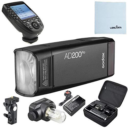 Godox AD200 Pro   200W 2,4G TTL Blitzlicht   HSS Pocket Flash   Speedlite Flash Fresnel   Nackte Birne Flash Head Taschenlampe   Standortfotografie und Studiofotografie mit Godox XPRO-N Transmitter Flash Head