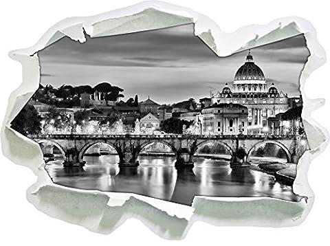 Monocrome, Vatican, Place Saint-Pierre, célèbrePapier aspect 3D, la taille de la vignette mur ou de porte: 92x67cm, stickers muraux, sticker mural, décoration murale