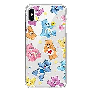 Miagon Clear Case for iPhone XS/X,Creative Cute Design Slim Soft Flexible TPU Back Cover Phone Case,Lovely Bear   1