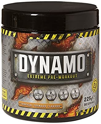 Protein Dynamix Dynamo Extreme Pre-Workout Formula Tropical Tornado Flavour Powder, 225 g from Protein Dynamix