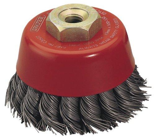 Knot Wire Cup Brush (DRAPER EXPERT 60MM x M10 TWIST KNOT WIRE CUP BRUSH)