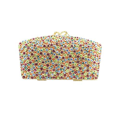 LAIDAYE Frauen-Clutch Abendtasche Wasserdicht 彩色