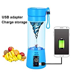JAPP 380ML Portable Wireless Rechargeable Juice Cup Mini Automatic Fruit Smoothie Cider Device Electric Juicer Bottle (Assorted Color Will Be Send)