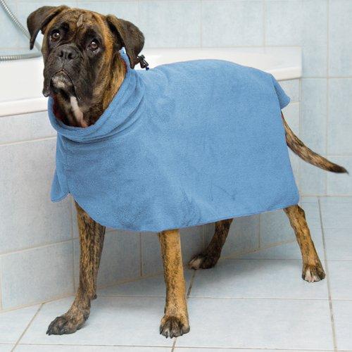 Trixie Bademantel/Hunde, Gr. XL, Mikrofaser, 75 cm, blau - 2