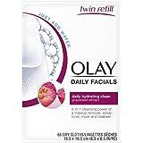 Toallitas de limpieza diaria Olay Daily Facials, 4 en 1 con activación de agua,