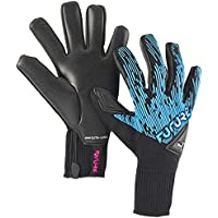 PUMA Future Grip 5.1 Hybrid Guantes De Portero, Unisex-Adult, Luminous Blue Black-Pink Alert White, 8