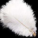 Vejaoo 10pcs natural real plumas de avestruz para...