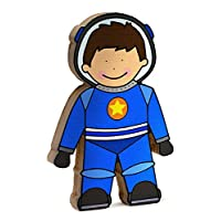 Storklings Spaceman Space Toy Boys Bedroom Shelf Decoration Blue Astronaut Suit and Rocket Gifts for Nursery