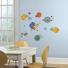 RoomMates - Adhesivos decorativos para pared, diseño de planetas