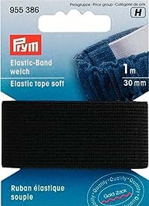 Prym Ruban élastique souple 30mm 1m, noir