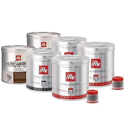 illy Iperespresso 126 Coffee Capsules - Mixed Case (2 x 21 Classic capsules, 2 x 21 Dark Roast capsules, 2 x 21 Brazilian capsules)
