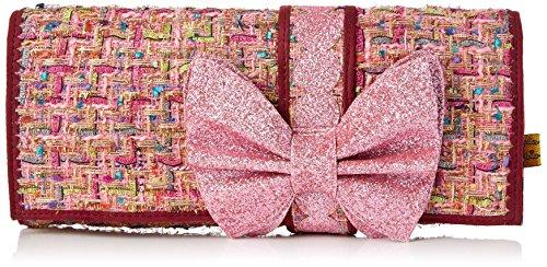 Irregular Choice - Cookies & Cream Clutch, Pochette da giorno Donna Rosa (Pink Multi)