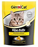 GimCat Cheezies / Kase-Rollis / Cat Treats with Hard Cheese / Rich in Vitamins / 1 x 140g in Resealable Sachet