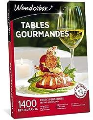 Wonderbox - Coffret cadeau couple pour Noël - TABLES GOURMANDES – 1400 restaurants renommés, brasseries chics