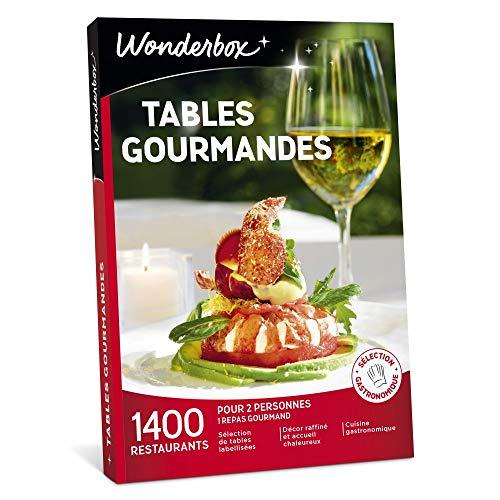 Wonderbox - Coffret cadeau couple- TABLES GOURMANDES - 1400 restaurants renommés, brasseries chics