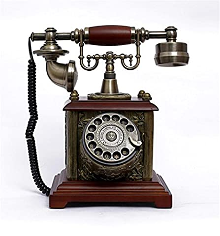 Xiuxiandianju Continental Classical Rotate Dial Retro Antique Telephone Fashion Fixed Home Phone Classic Desktop Wired Office Telephone Desk Telephone Phone Home Living Room Office Decor Great Gifts