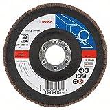 Bosch DIY Fächerschleifscheibe (für Winkelschleifer verschiedene Materialien, bombierte Ausführung, Ø 125 mm, Körnung 40)
