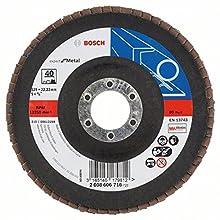 Bosch Professional 2608606716 Flap Discs 125x22 G40, Black/Brown