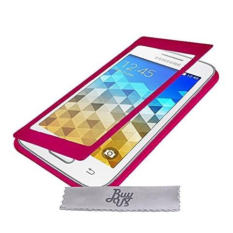Etui Housse ExtraSlim Vitre Tactile et Stand Samsung Galaxy Trend