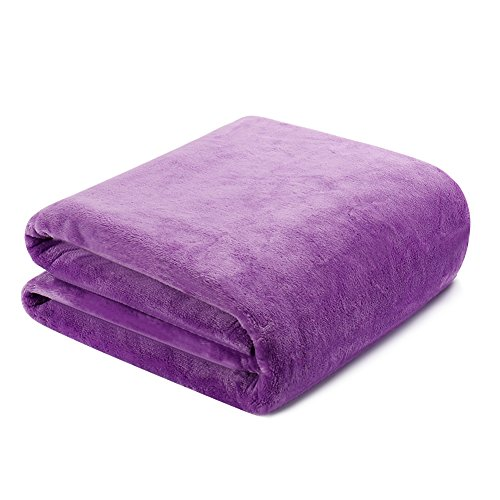Premium Dog Fleece Blanket Throw Reversible – Crate Bed Cover for Large Medium Small Puppy Cat by Hero Dog(120*120cm)