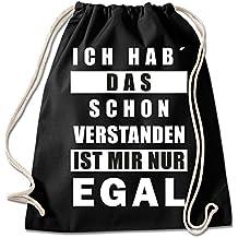 2d3114255d64b Shirt   Stuff   Turnbeutel mit Spruch Bedruckte Sportbeutel - Sprüche  auswählbar Baumwolle schwarz