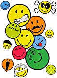 Unbekannt 8 tlg. Set _ Wandtattoo / Sticker -  Smiley World / Smilie  - Wandsticker + ..