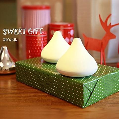 NASEN Chocolate creativo ambiente lámpara luz nocturna Navidad regalos para cumpleaños inalámbrico atmósfera carga de inducción de la noche año nuevo luz sensado táctil ligera ,