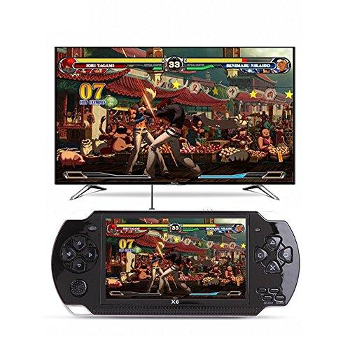 Spielkonsole 10000 Spiele Eingebauter 8GB 4.3 '' 32Bit Tragbarer Handheld Videospiel Konsolen Spieler Geschenk für Kinder (Handheld-spiel-konsole)