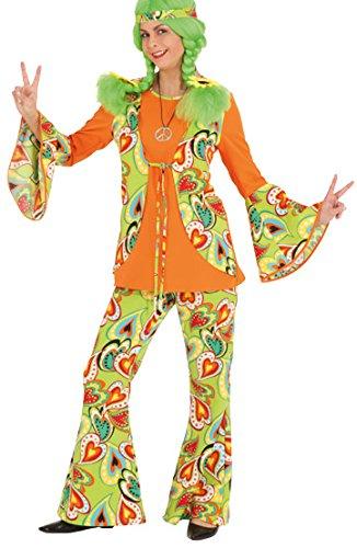 Orlob Schlaghose Love zum 60er Jahre Damen Kostüm Karneval Fasching Gr.38