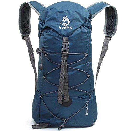 32L Lässig Trekking Rucksack Einfach Outdoor Schulter Tasche Blue