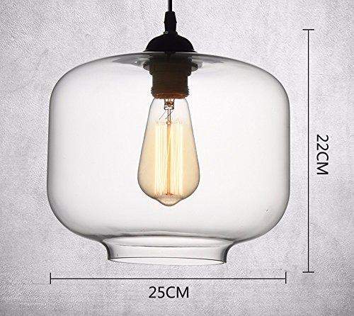 Il Nordic retrò vetro industriale vento singola testa lampade (non incluso), dolce lampada pot