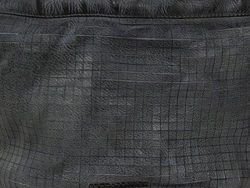 FredsBruder Cut it Vintage Mixpixel Borsa a mano pelle 37 cm Dark Grey (Grigio)