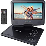 Portable 270 degree Swivel DVD Player LCD Screen Display Game USB TV SD SWIVEL & Flip VAG CD VCD MP3 MP4 USB Home Theater (9.5 inch (NS969B))