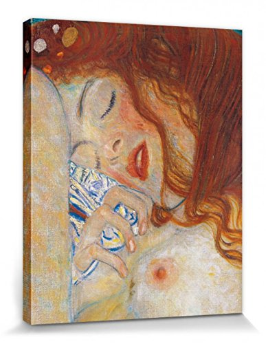 1art1 Set: Gustav Klimt, Danaë, 1907, Detail Poster Leinwandbild Auf Keilrahmen (50x40 cm) + 1x...