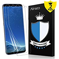 Galaxy S8+ Plus Screen Protector, Alinsea Galaxy S8 Plus Screen Protector [Case Friendly] [Bubble-Free] [Anti-Scratch] [No Lifted Edges] Non Glass Plastic