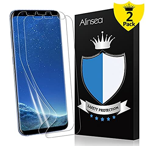 Galaxy S8 Screen Protector, Alinsea Galaxy S8 Screen Protector [Case Friendly] [Bubble Free] [Touch Sensitive] Not Glass Ultra Thin Wet Applied Film for Samsung Galaxy S8