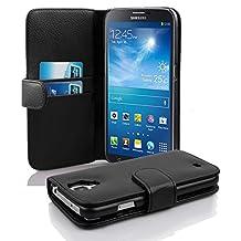 Cadorabo - Funda Samsung Galaxy MEGA 6.3 (I9200) Book Style de Cuero Sintético en Diseño Libro - Etui Case Cover Carcasa Caja Protección con Tarjetero en NEGRO-ÓXIDO