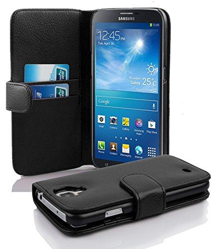 Samsung Galaxy MEGA 6.3 Hülle in SCHWARZ von Cadorabo - Handyhülle mit Kartenfach für Galaxy MEGA 6.3 Case Cover Schutzhülle Etui Tasche Book Klapp Style in OXID SCHWARZ (Cover Für Samsung Galaxy Mega 2)