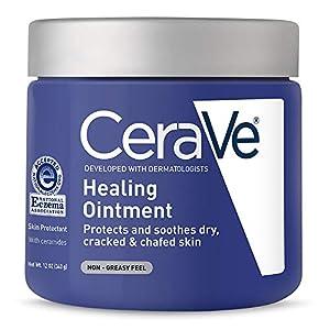 Pomada de curación CeraVe, 340 g, cura la piel seca, irritada y agrietada