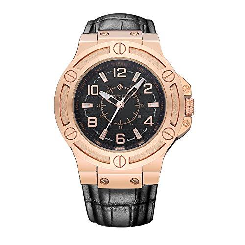 black-label-manis-montre-pour-homme-or-rose-bracelet-cuir-noir