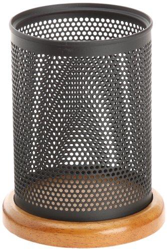 eldon-rolodex-pot-a-crayons-en-bois-et-metal-perfore-noir