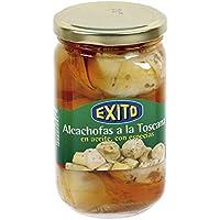 Corazones de alcachofa a la toscana Exito tarro de 370 ml 5/7 unidades.