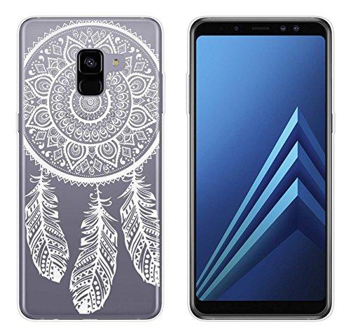 yayago Hülle für Samsung Galaxy A8+ 2018 / A8+ 2018 Duos Silikon Schutzhülle Hülle Case Backcover Tattoo Ornament Spring Design transparent Tasche