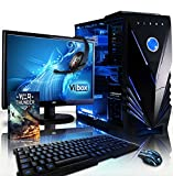 Vibox VBX-PC-4935-II Apache Paket 9 54,6 cm (21,5 Zoll) Gaming Desktop-PC (AMD Phenom Quad Core FX-6300, 16GB RAM, 1TB HDD, NVIDIA Geforce GTX 960, Win 10 Home) blau
