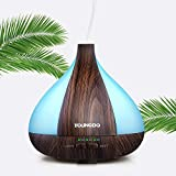 YOUNGDO Aroma Diffuser 220ML, Ultra Leise Humidifier, 7 Farben LED Duftlampe, Diffusor Aromatherapie