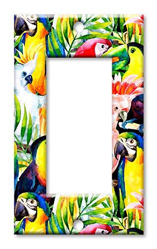 Art Plates Wandteller, Übergröße, bunte Vögel EINZEL ROCKER Mehrfarbig - 2 Rocker Wall Plate